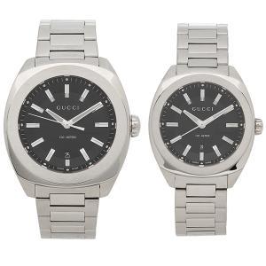 グッチ 腕時計 ペアウォッチ レディース メンズ GUCCI YA142201 YA142401 ブラック シルバー|1andone