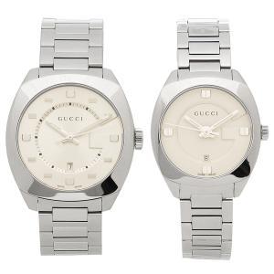 グッチ 腕時計 ペアウォッチ レディース メンズ GUCCI YA142308 YA142502 アイボリー シルバー|1andone