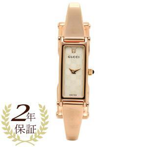 グッチ 時計 レディース GUCCI YA015560 1500シリーズ 腕時計 ウォッチ ホワイトパール/ピンクゴールド|1andone