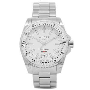 グッチ 腕時計 メンズ GUCCI YA136302 ホワイト シルバー|1andone