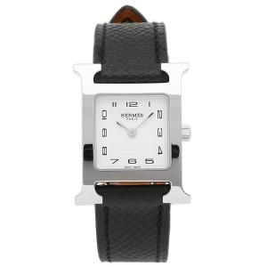 HERMES 腕時計 エルメス 036704WW00 HH1.210.131/UNO ブラック レディース シルバー ホワイト 1andone