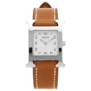 HERMES 腕時計 エルメス 036706WW00 HH1.210.131/VBA Hウォッチ ブラウン レディース シルバー ホワイト 1andone