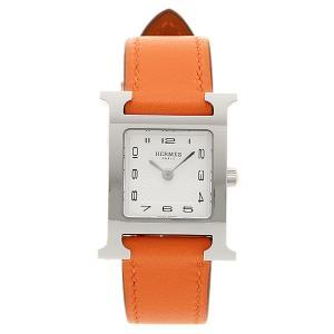 HERMES 時計 エルメス W036707WW00 HH1.210.131/WOR Hウォッチ レディース オレンジ/シルバー/ホワイト 1andone