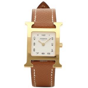 エルメス 腕時計 HERMES HH1.201.131/UGO W036732WW00 Hウォッチ ブラウン レディース ホワイト イエローゴールド 1andone