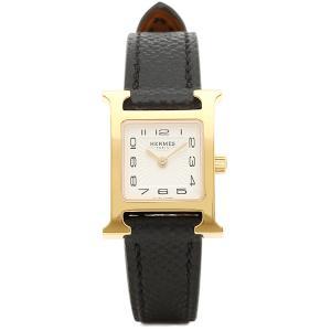 エルメス 腕時計 HERMES HH1.101.131/UNO W037894WW00 Hウォッチ ミニ ブラック レディース ホワイト イエローゴールド 1andone