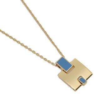 エルメス ネックレス アクセサリー レディース HERMES H146201F 90 ブルー ゴールド 1andone