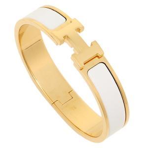 エルメス ブレスレット HERMES レディース 700001F CLIC クリック H バングル GOLD/BLANC ゴールド ホワイト 1andone