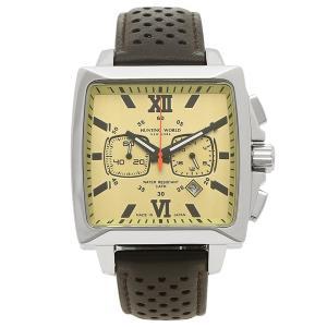 ハンティングワールド 腕時計 メンズ HUNTING WORLD HW701SBR ブラウン シルバー イエロー|1andone