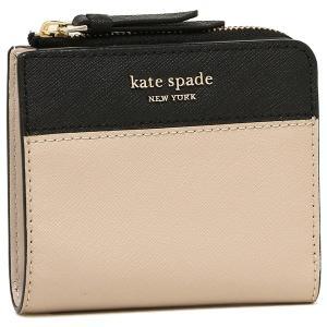 ケイトスペード 折財布 アウトレット レディース KATE SPADE WLRU5430 195  ライトベージュ ブラック|1andone