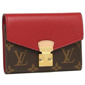 ルイヴィトン 折財布 レディース LOUIS VUITTON M67478 ブラウン レッド|1andone
