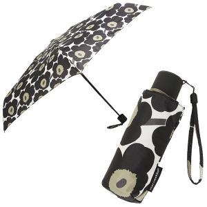 マリメッコ 傘 レディース MARIMEKKO 038653 030 ミニ ウニッコ MINI UNIKKO MINI MANUAL 折り畳み傘 BLACK 1andone