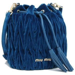 ミュウミュウ ショルダーバッグ レディース MIU MIU 5BE014 068 F0215 ブルー|1andone