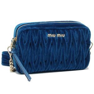 ミュウミュウ ショルダーバッグ レディース MIU MIU 5BH118 068 F0215 ブルー|1andone
