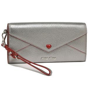 ミュウミュウ 長財布 レディース MIU MIU 5MH028 2BC3 F0135 シルバー|1andone