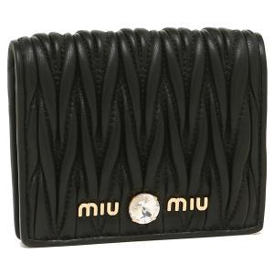ミュウミュウ 折財布 レディース MIU MIU 5MV204 2B9G F0002 ブラック|1andone