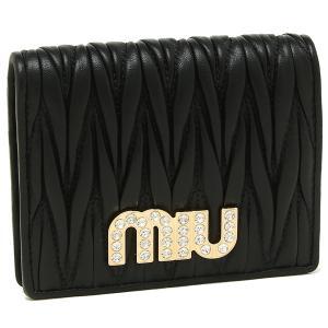 ミュウミュウ 折財布 レディース MIU MIU 5MV204 2BSQ F0002 ブラック|1andone