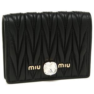 ミュウミュウ 折財布 レディース MIU MIU 5MV204 2D3Y F0002 ブラック|1andone