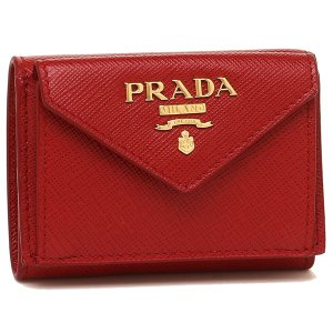 プラダ 折財布 レディース PRADA 1MH021 QWA F068Z レッド|1andone