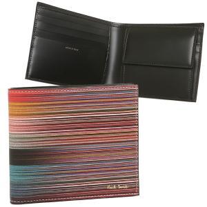 ポールスミス 折財布 メンズ PAUL SMITH 4833 A40025 96 マルチカラー|1andone