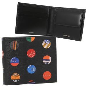 ポールスミス 折財布 メンズ PAUL SMITH 4833-A40042 79 ブラック マルチカラー|1andone