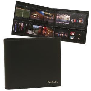 ポールスミス 折財布 メンズ PAUL SMITH 4833 A40241 PR ブラック マルチカラー|1andone