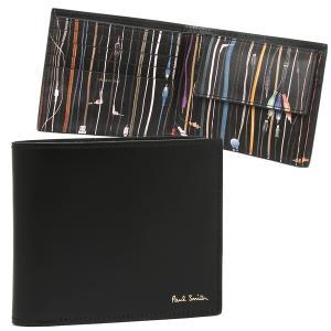 ポールスミス 折財布 メンズ PAUL SMITH 4833 A40315 PR ブラック マルチカラー|1andone
