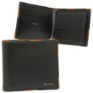 ポールスミス 折財布 メンズ PAUL SMITH 4833-AEDGE 79 ブラック マルチカラー|1andone