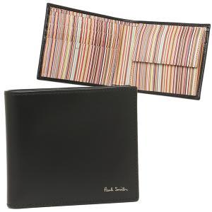 ポールスミス 折財布 メンズ PAUL SMITH 4833-AMULTI 79 ブラック マルチカラー|1andone