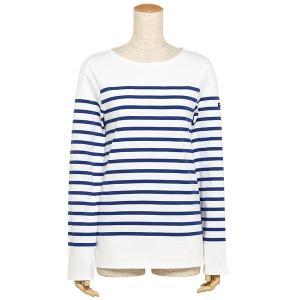 セントジェームス ナヴァル NAVAL メンズ レディース ロングTシャツ SAINT JAMES 2691 90 ホワイト ブルー|1andone