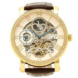 ゾンネ 腕時計 メンズ SONNE H013YGZ SV シルバー イエローゴールド ダークブラウン 1andone