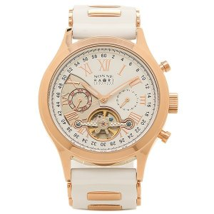 ゾンネ メンズ 腕時計 SONNE H016PG WH ホワイト ピンクゴールド 1andone