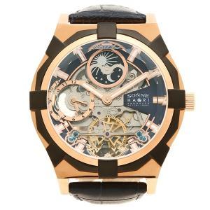 ゾンネ 腕時計 メンズ SONNE H019PG NV ネイビー ピンクゴールド 1andone