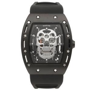 ゾンネ 腕時計 メンズ SONNE S160BK-BKSV ブラック シルバー 1andone