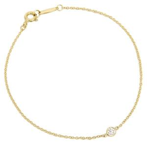 ティファニー ブレスレット アクセサリー TIFFANY&Co. 10769051 18K ダイヤモンドバイザヤード 7in 18Y イエローゴールド|1andone