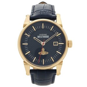 ヴィヴィアンウエストウッド 腕時計 メンズ VIVIENNE WESTWOOD VV065BLBL ネイビーブルー イエローゴールド|1andone