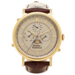 ヴィヴィアンウエストウッド メンズ腕時計 VIVIENNE WESTWOOD VV164CHBR ホワイト ゴールド ダークブラウン 1andone