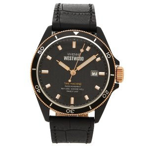 ヴィヴィアンウエストウッド 腕時計 メンズ VIVIENNE WESTWOOD VV181RSBK ブラック ローズゴールド 1andone
