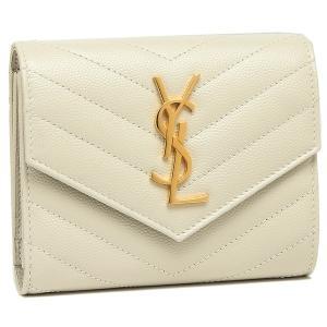 サンローラン 折財布 レディース SAINT LAURENT PARIS 403943 BOW01 9207 ホワイト 1andone