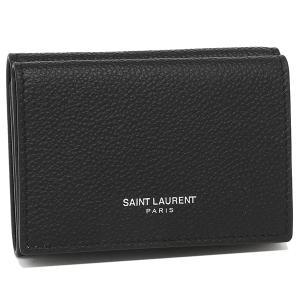 サンローラン 折財布 レディース SAINT LAURENT PARIS 459784 B680N 1000 ブラック 1andone