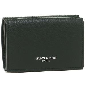 サンローラン 折財布 レディース SAINT LAURENT PARIS 459784 B680N 4458 グリーン 1andone