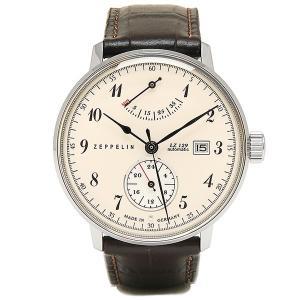 ツェッペリン 時計 メンズ ZEPPELIN 70604N 7060-4N HINDENBURG 腕時計 ウォッチ ブラウン/アイボリー|1andone