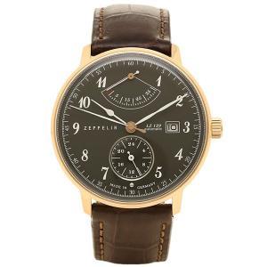 ツェッペリン 時計 メンズ ZEPPELIN 70642 HINDENBURG 自動巻 腕時計 ウォッチ ブラウン/グレー|1andone