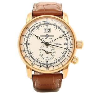ツェッペリン 時計 メンズ ZEPPELIN 76405 SPECIAL EDITION100YEARS クォーツ 腕時計 ウォッチ ブラウン/アイボリー|1andone