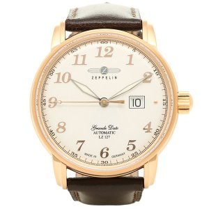 ツェッペリン 腕時計 ZEPPELIN 7652-5 ブラウン ホワイト ゴールド|1andone