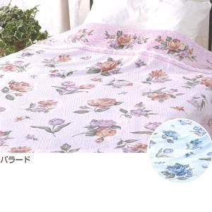 日本製・タオルケット(花柄・バラード)|1ban-otoku