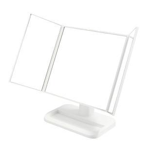 メイクアップミラー 三面鏡 ホワイト NK-242(WH)|1ban-otoku