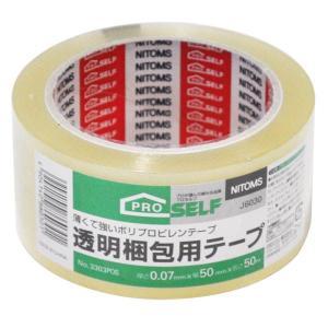 透明梱包用テープ 5cm×50m J6030|1ban-otoku