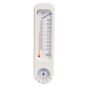 クレセル 温度計 寒暖計 家庭・壁掛け用 CP-300W|1ban-otoku