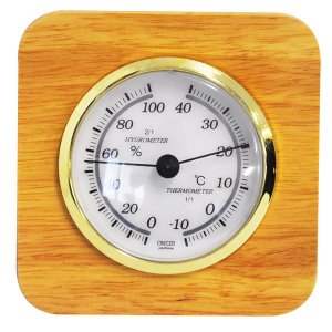 クレセル 卓上用 温・湿度計 天然木 CR-620|1ban-otoku