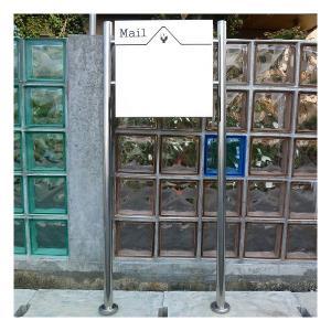 【送料無料】郵便ポスト 郵便受け 錆びない メールボックス スタンドタイプ シルバー色 ステンレスポスト(silver)|1bankanwebshop